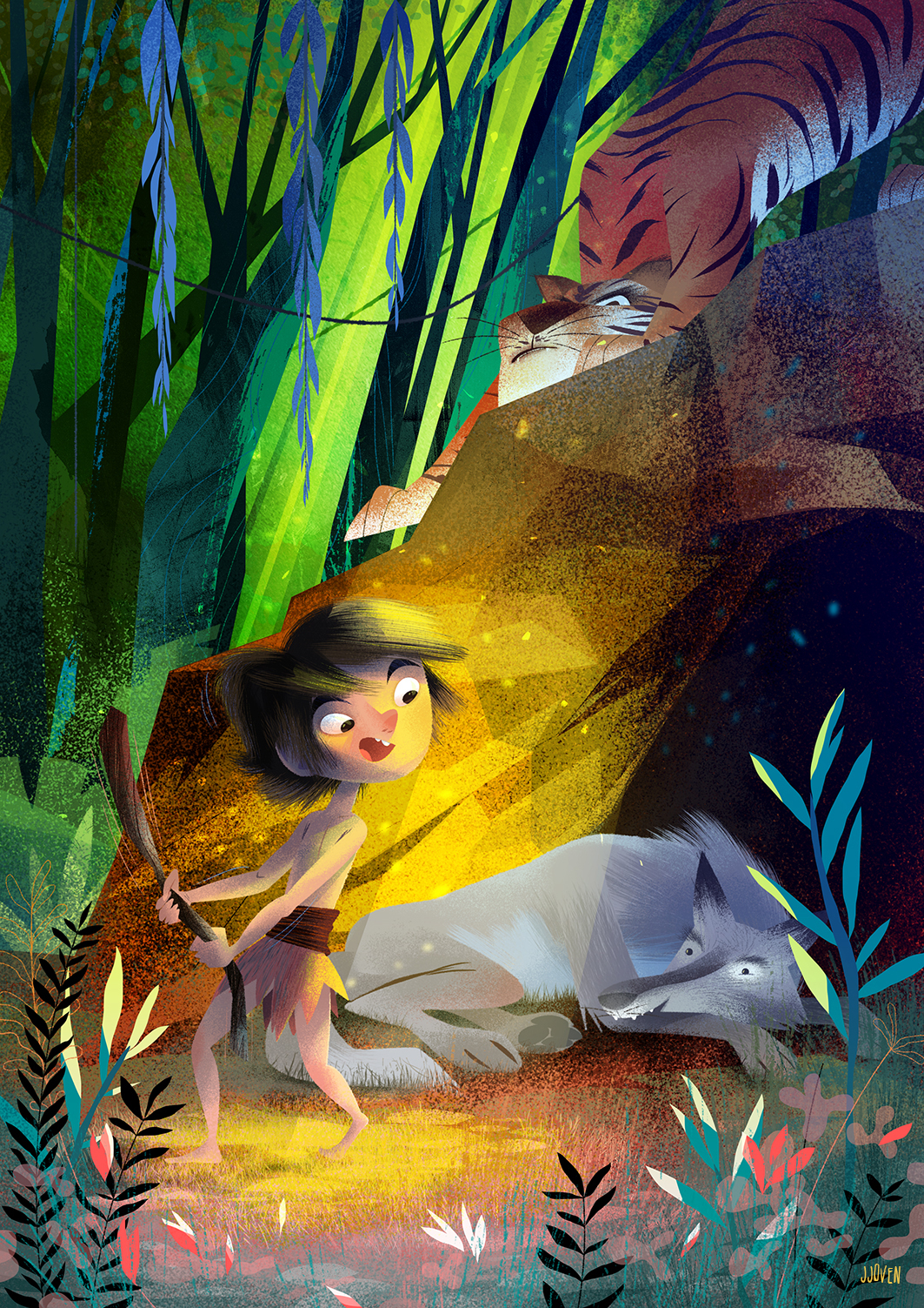 children´s book jungle book mowgli wolf tiger kidlit Author digital 2D