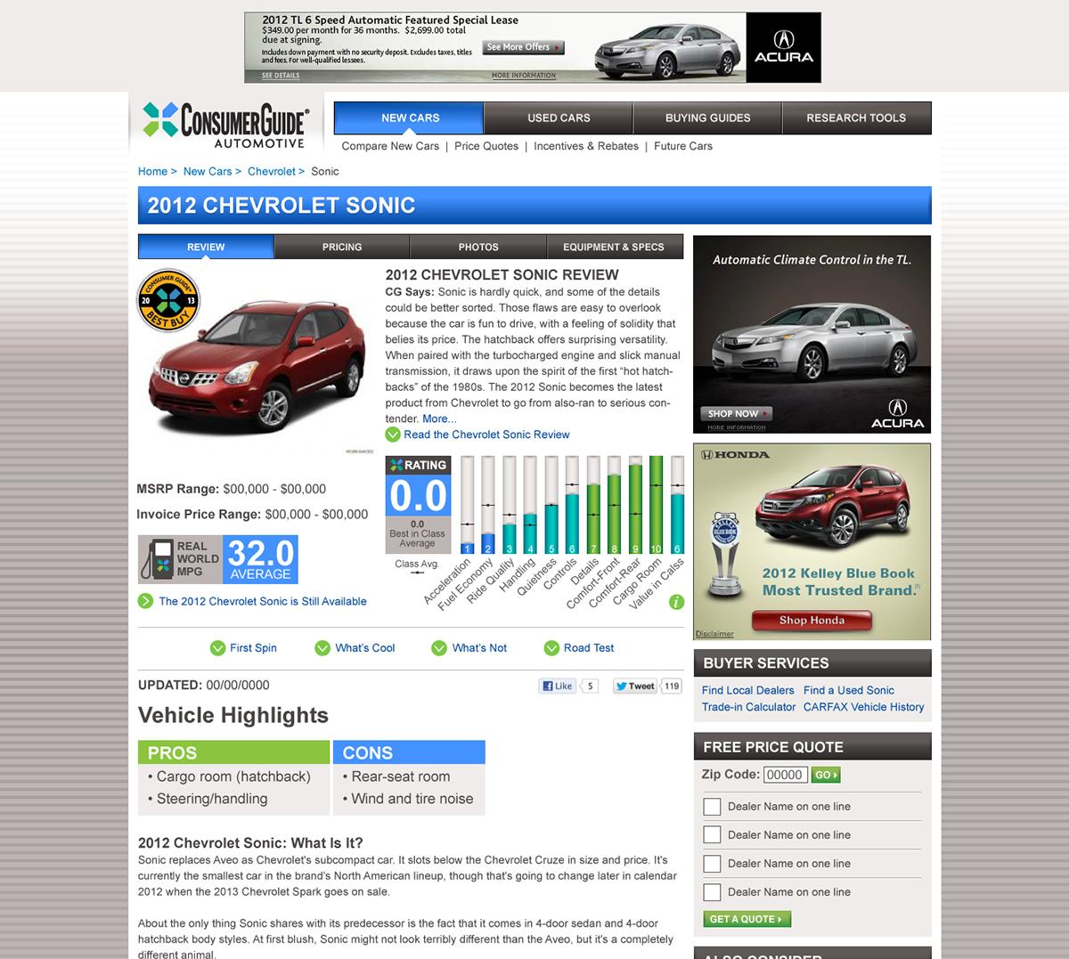 consumer guide automotive website design on behance rh behance net Hyundai Logo Consumer Car Guide