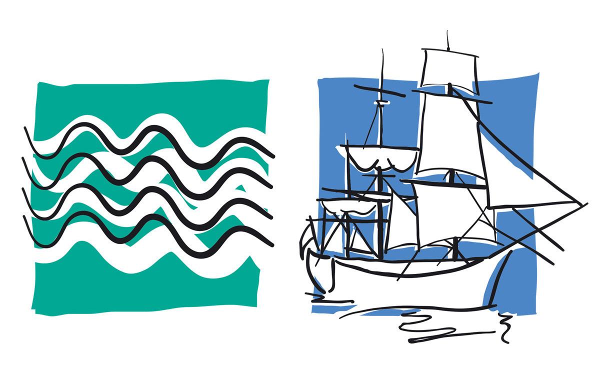 graphic Icon flat colour simple automotive   tourist Seaside industrial historical line