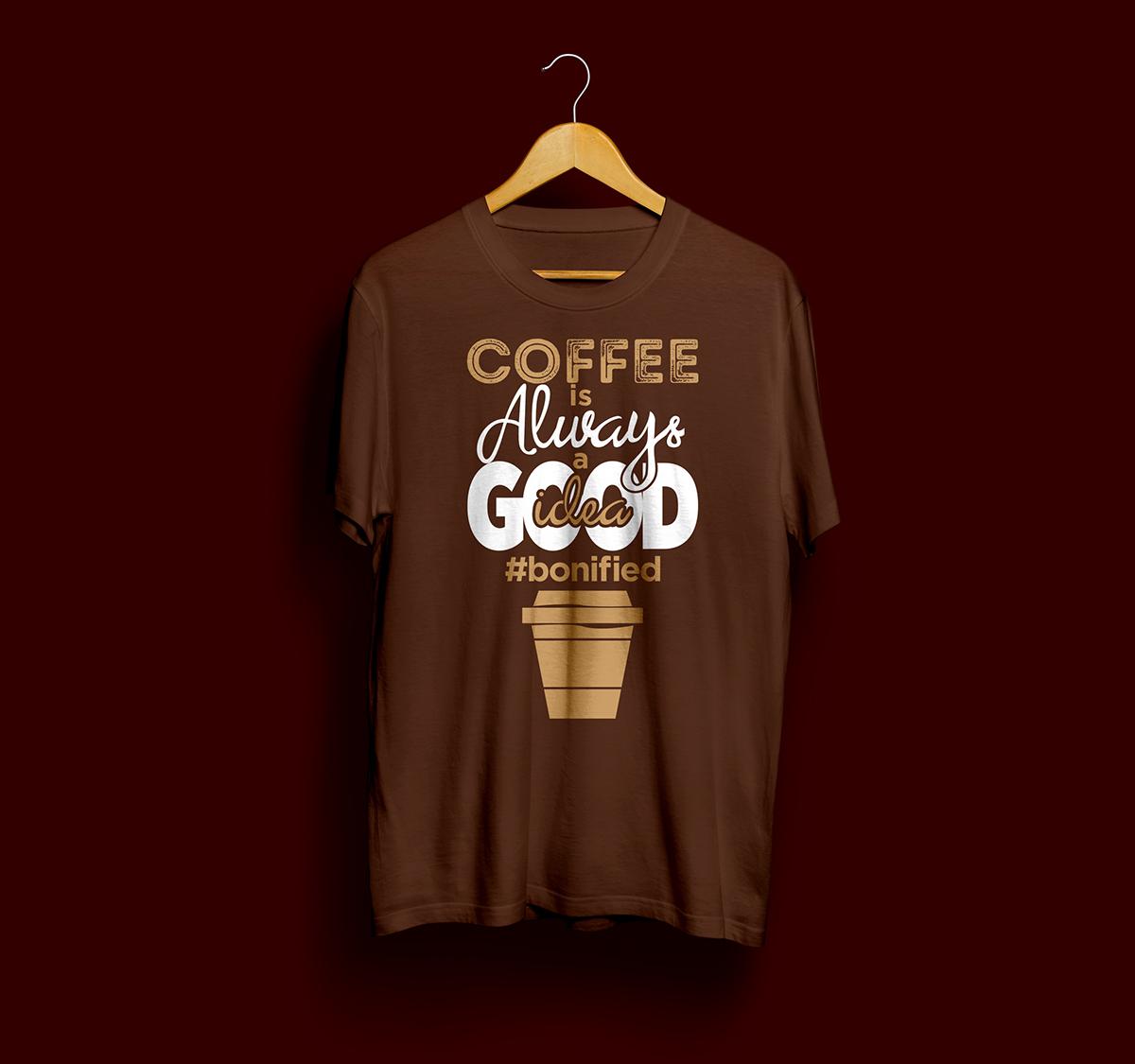 BoniCafe,coffee shop,tshirt,silk screen