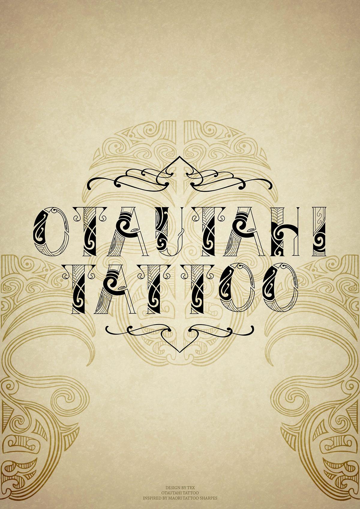 Maori Tattoo Font On Behance