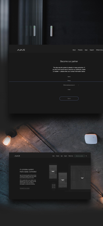 Ajax Brand Site - UI/UX
