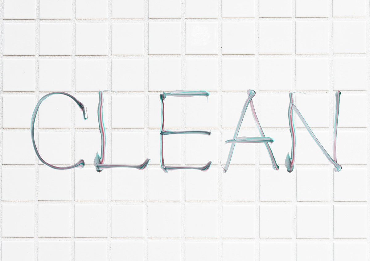clean font graphic design  hand made font Liquid paste teeth toothpaste Typeface typography