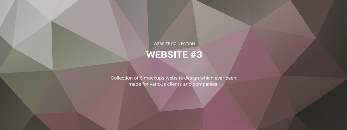 Website design Mockup homepage Collection company profile