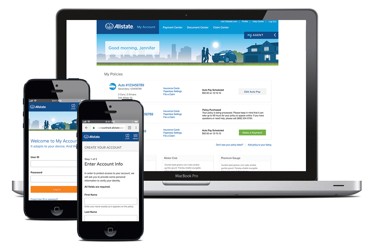 Allstate My Account >> Allstate My Account Responsive Website On Behance