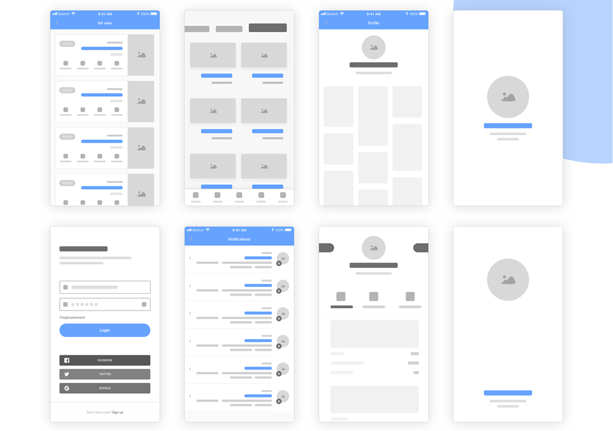 Free Wireframe Kit For Sketch & Adobe XD on Pantone Canvas