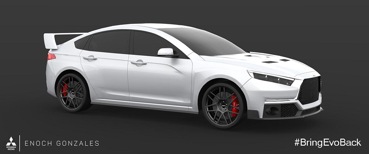 Mitsubishi lancer evolution automotive   design industrial