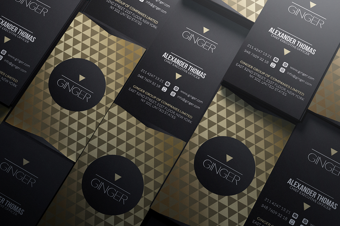 gold and black business card template on behance