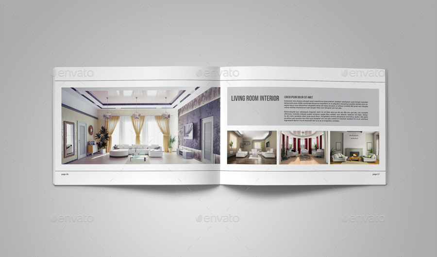 Portfolio brochure template on behance for Interior design layout templates