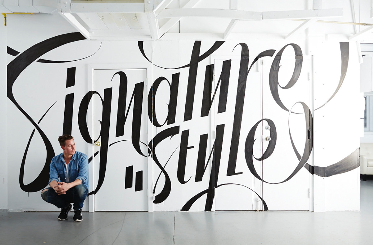 Designlines mural on behance for Thank you mural
