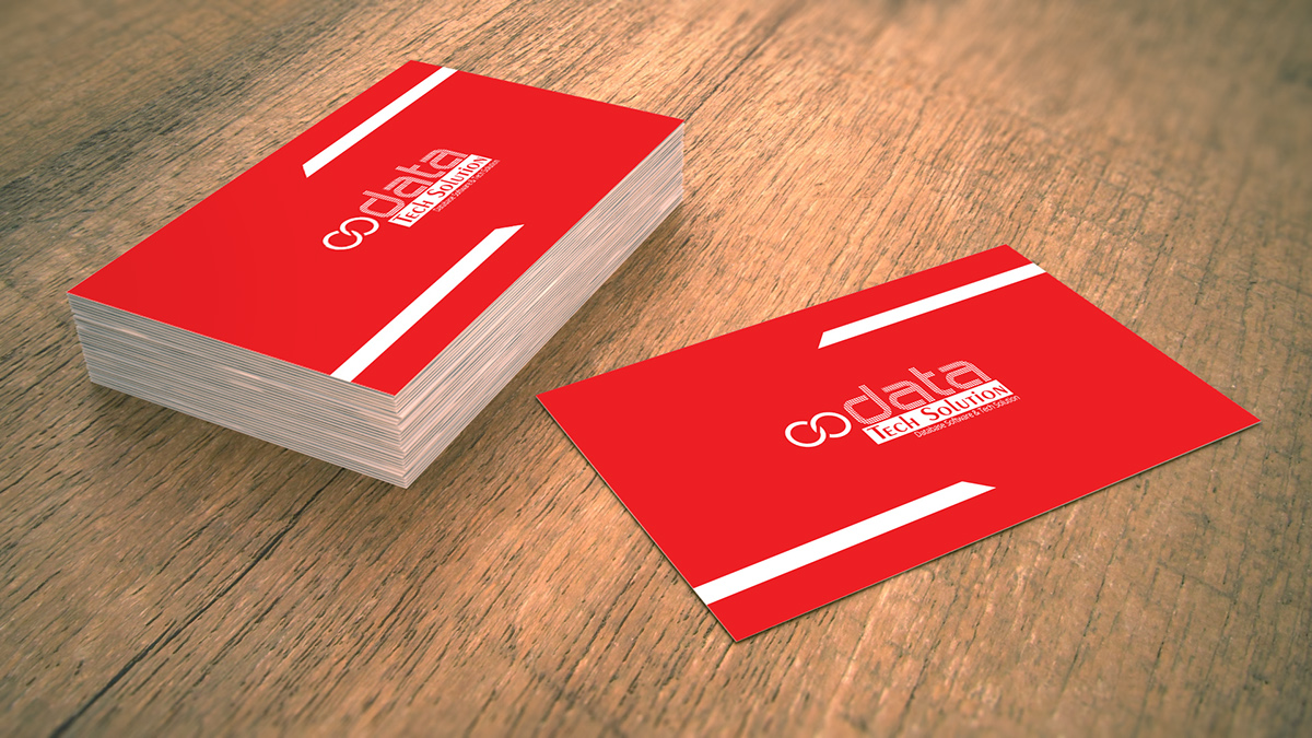 Creative business card for software company on behance card format landscape business card colourmoves