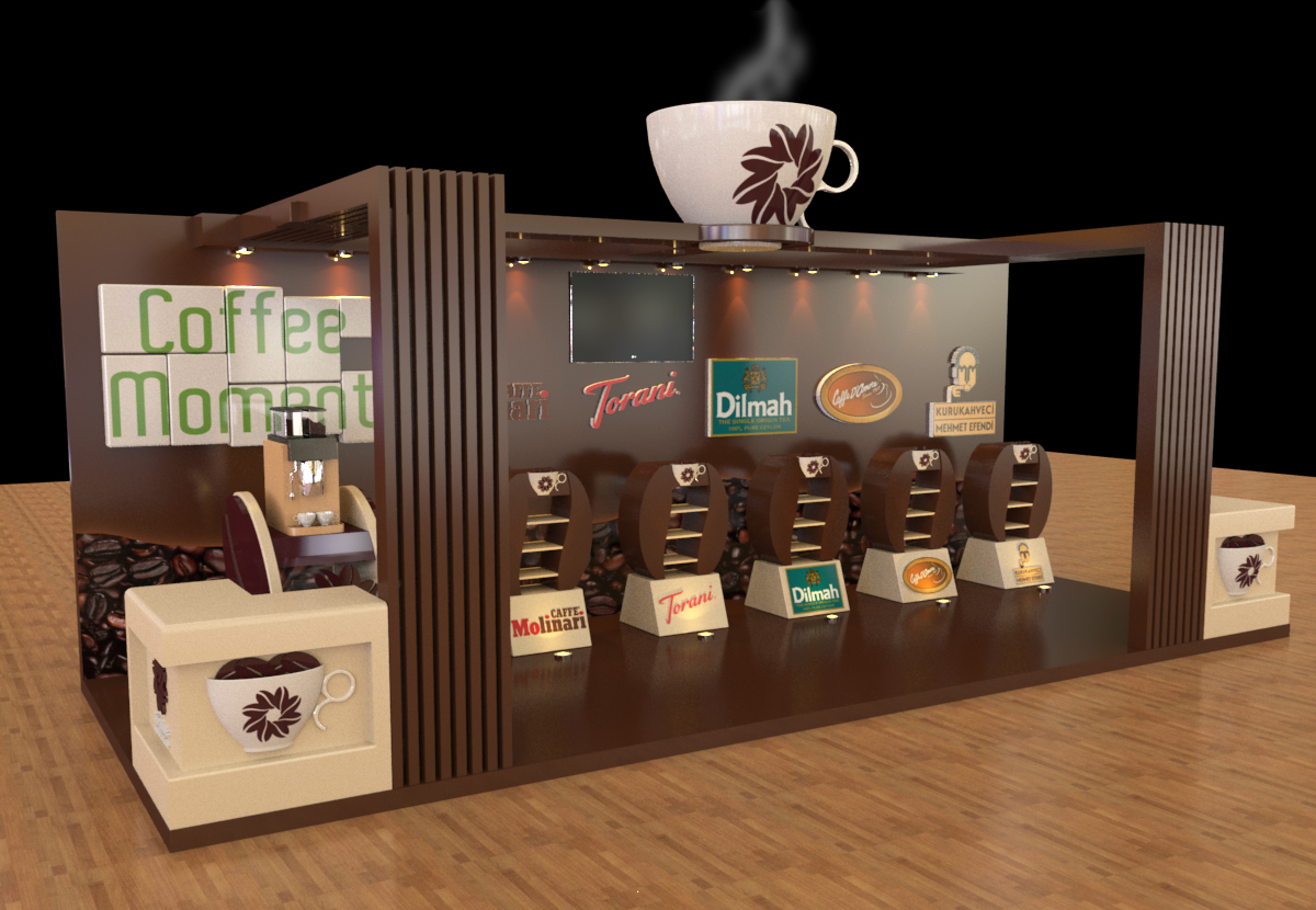 Exhibition Booth Behance : Coffee moments booth on behance