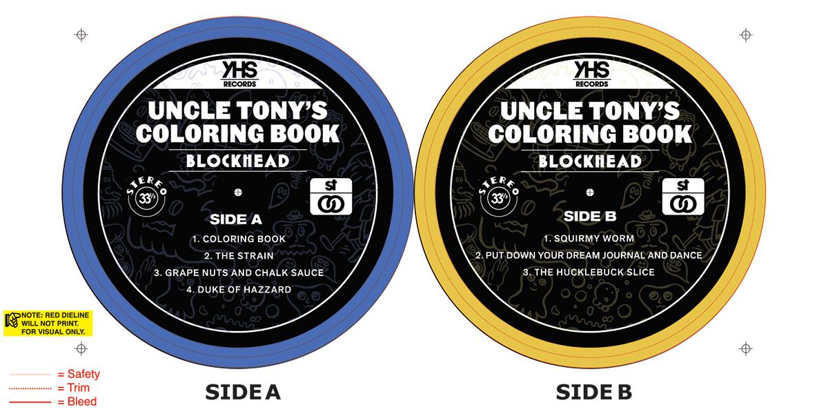 Blockhead Uncle Tony S Coloring Book Vinyl.Blockhead \