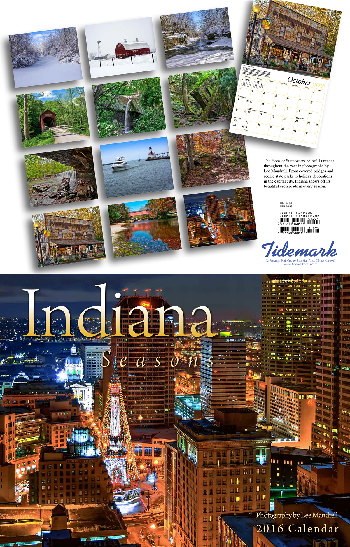 Tide Mark Press 2016 Smoky Mountains and Indiana Calendars