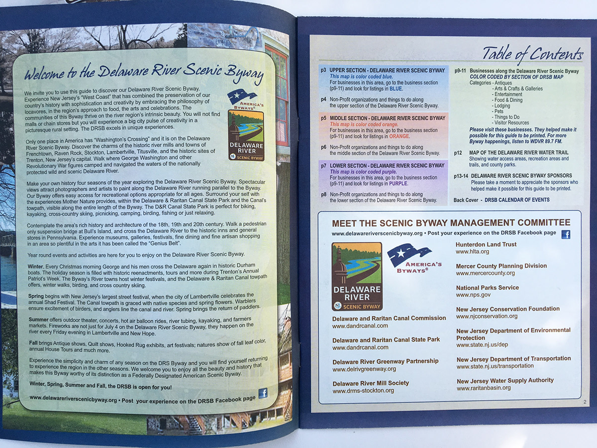 Guide To The Delaware River Scenic Byway On Behance