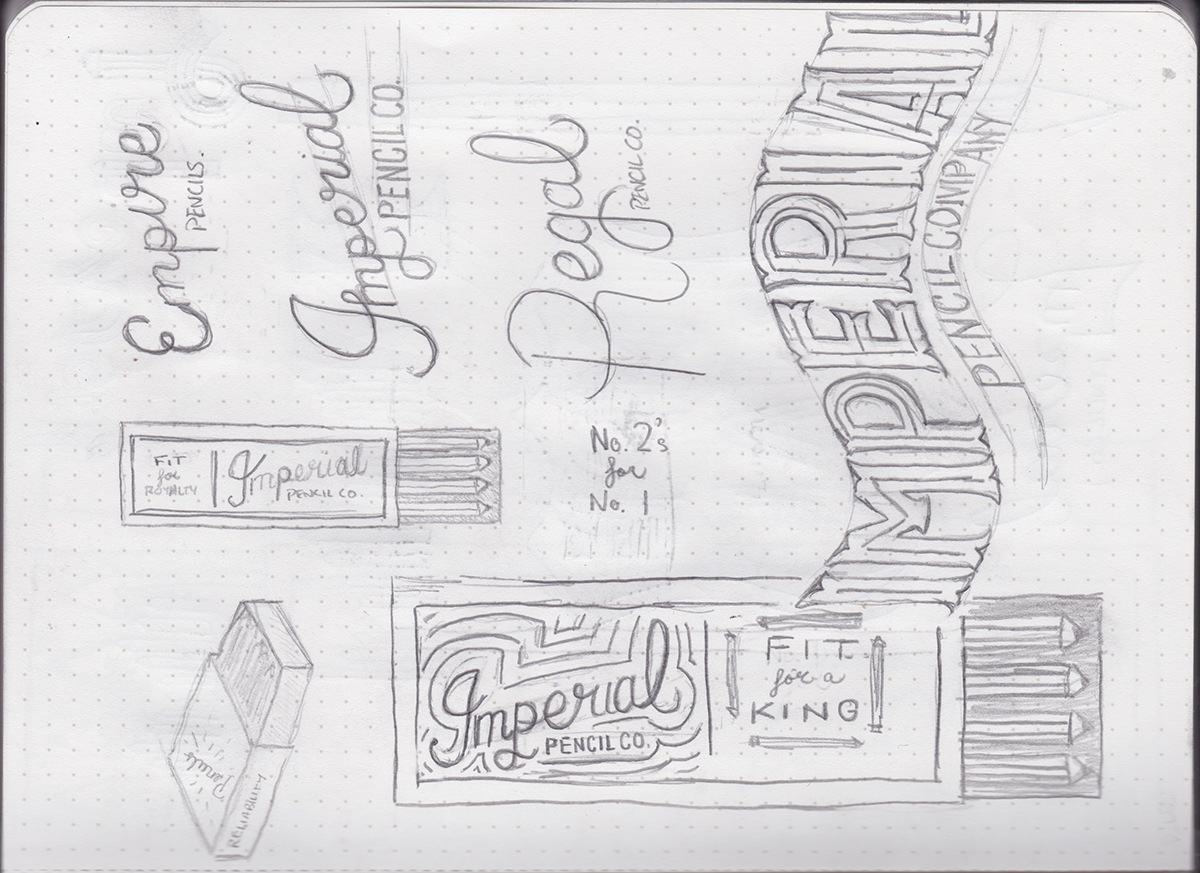 pencil packages design lettering HAND LETTERING type flourish Ps25Under25 #Ps25Under25