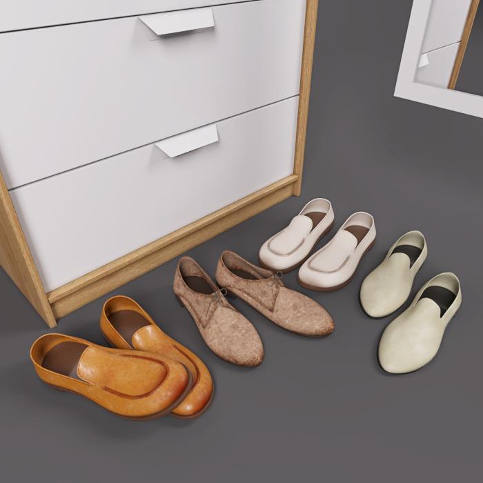 3D model of wardrobe on Behance
