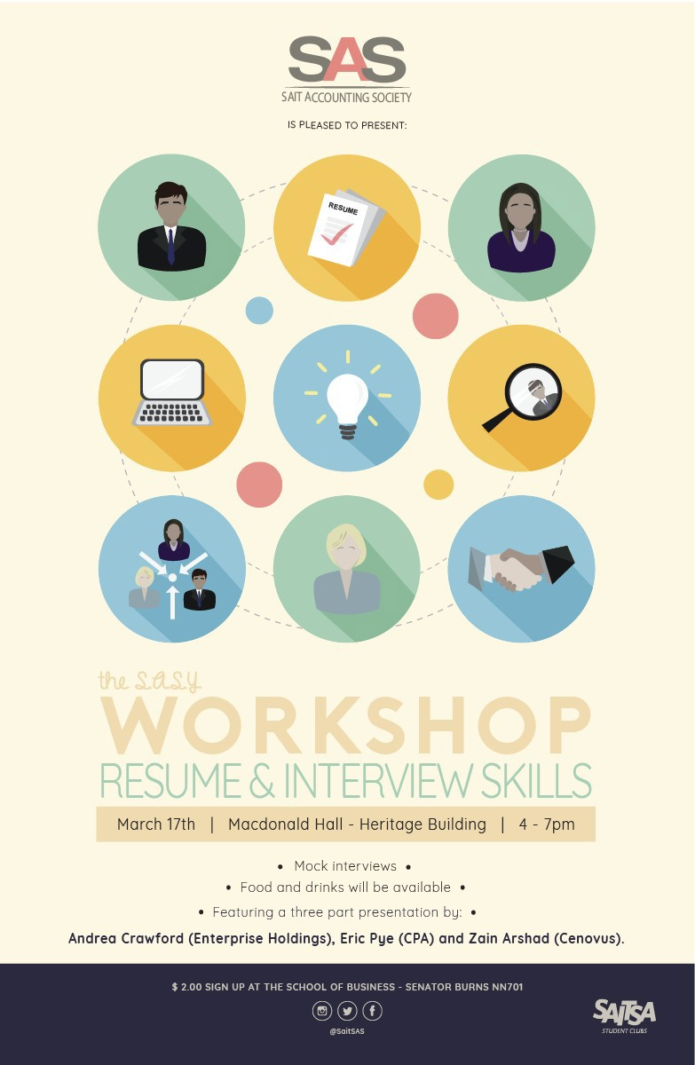 Poster design using illustrator - Poster Created For Sait Accounting Society S Workshop Event Custom Design Created Using Illustrator In February 2017