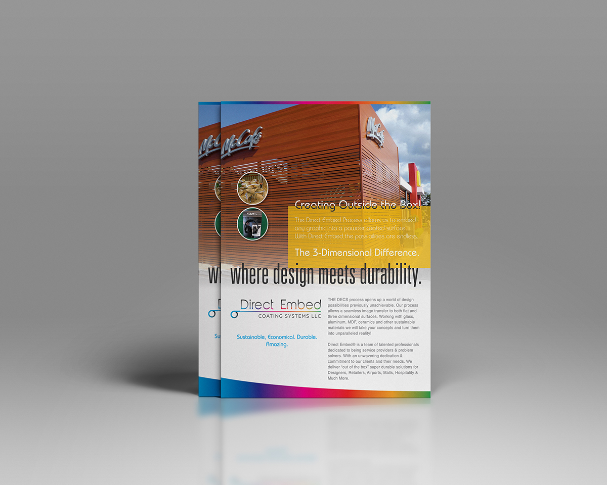 Advertising design for Direct Embed