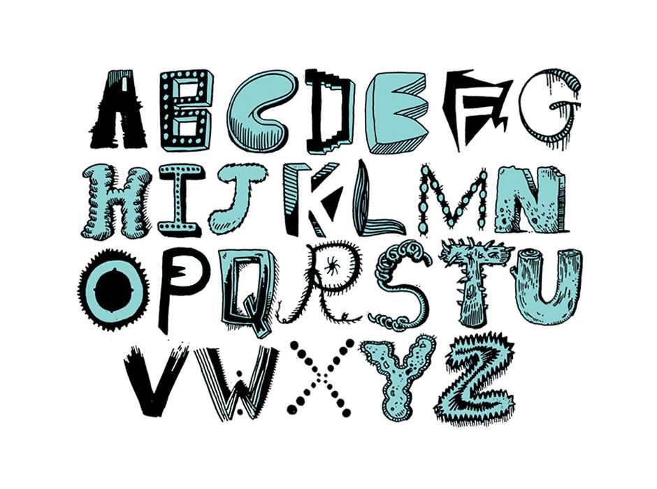 logos hand drawn type