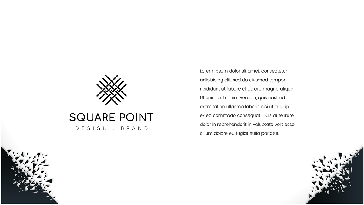 Minimalist logo (square point) on Student Show