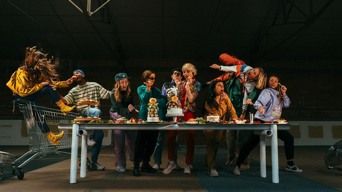 art design direction artistique Food  La Cène leonard de vinci mise en scène Patisserie Photographie urbain