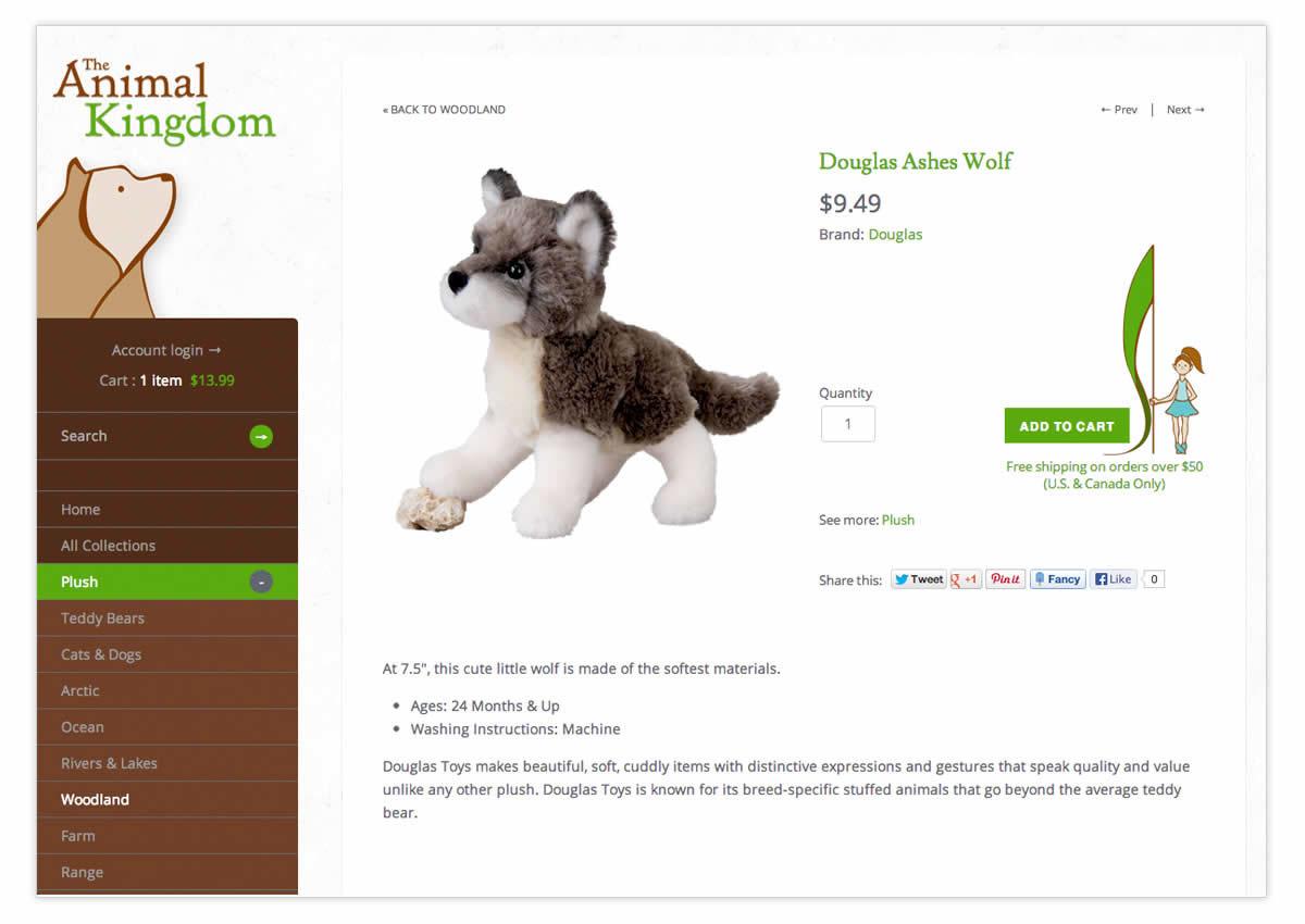 Web Shopify Retail stuffed animals toys children