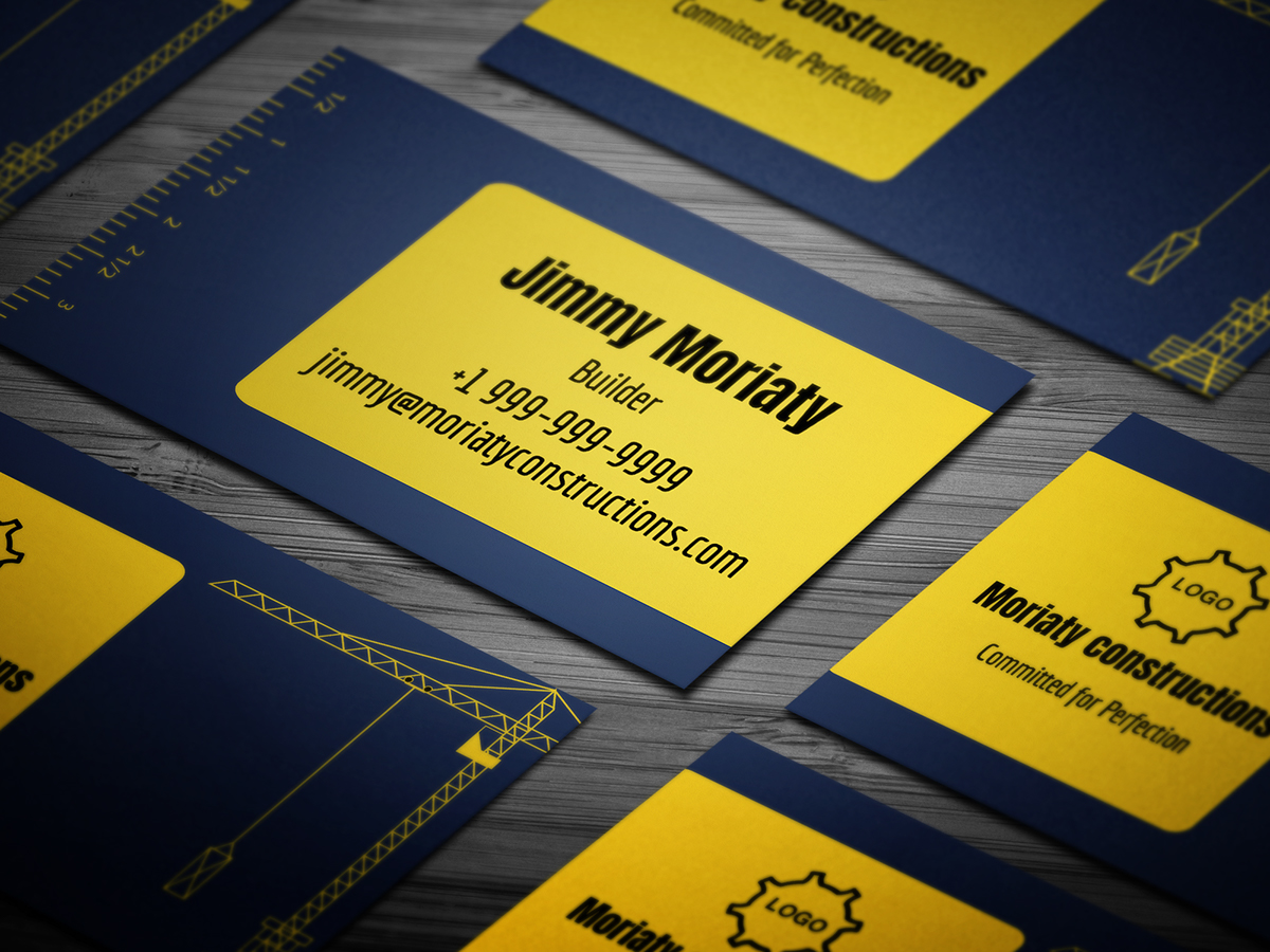 10 free professional contractor business card templates on pantone 10 free professional contractor business card templates colourmoves