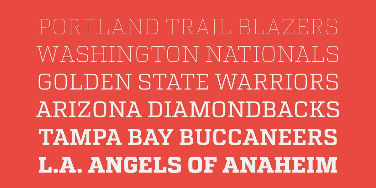 font Free font artill stereotypes download slab serif Headline text sport stype atletico