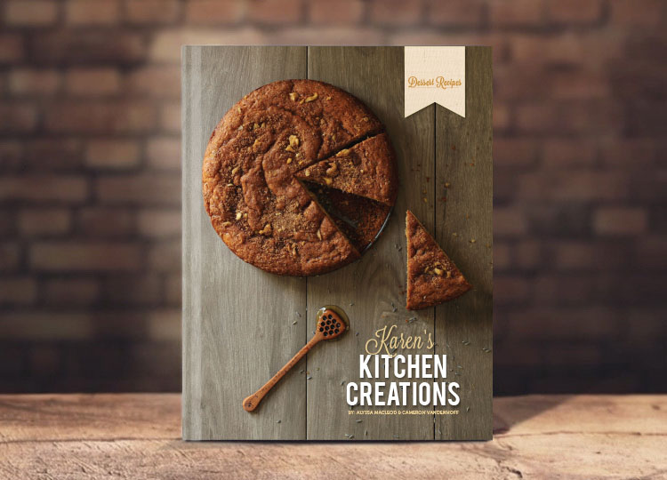 karen s kitchen creations cookbook on behance