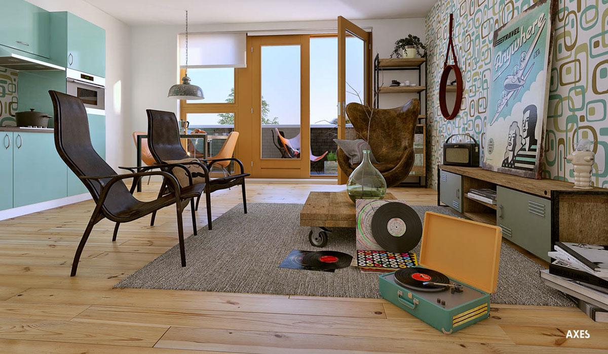 Interieur vintage wonen amersfoort in verstek on behance for Interieur amersfoort