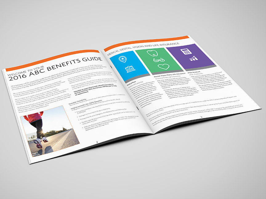 employee benefits marketing collateral mockups on behance