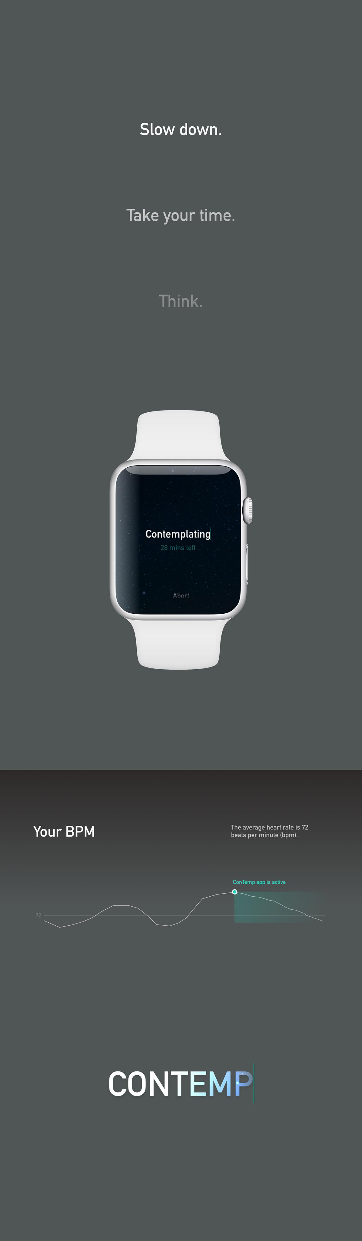 apple watch smart watch ios concept