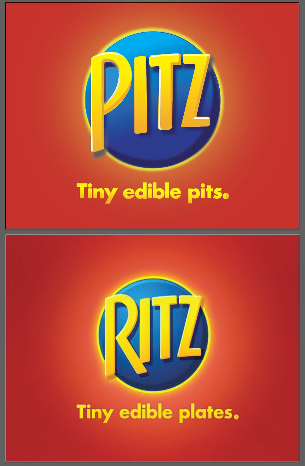 Logo Satire Project With Ritz Crackers On Behance