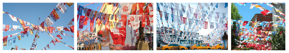 tak Kıyı Kose parti political flags