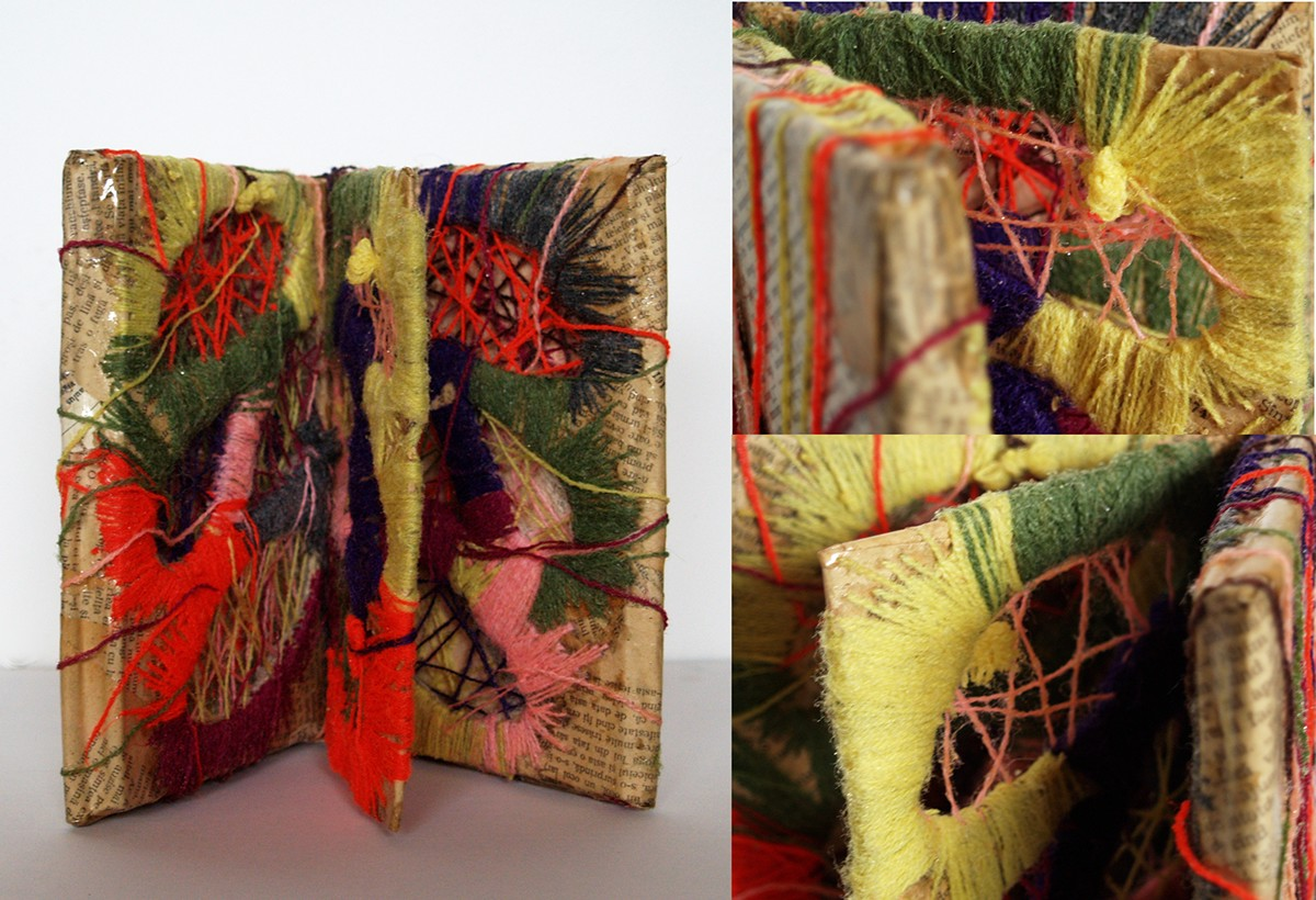 book object art book weaving textile art recycle art old books new life weast meet east cultural book exchange