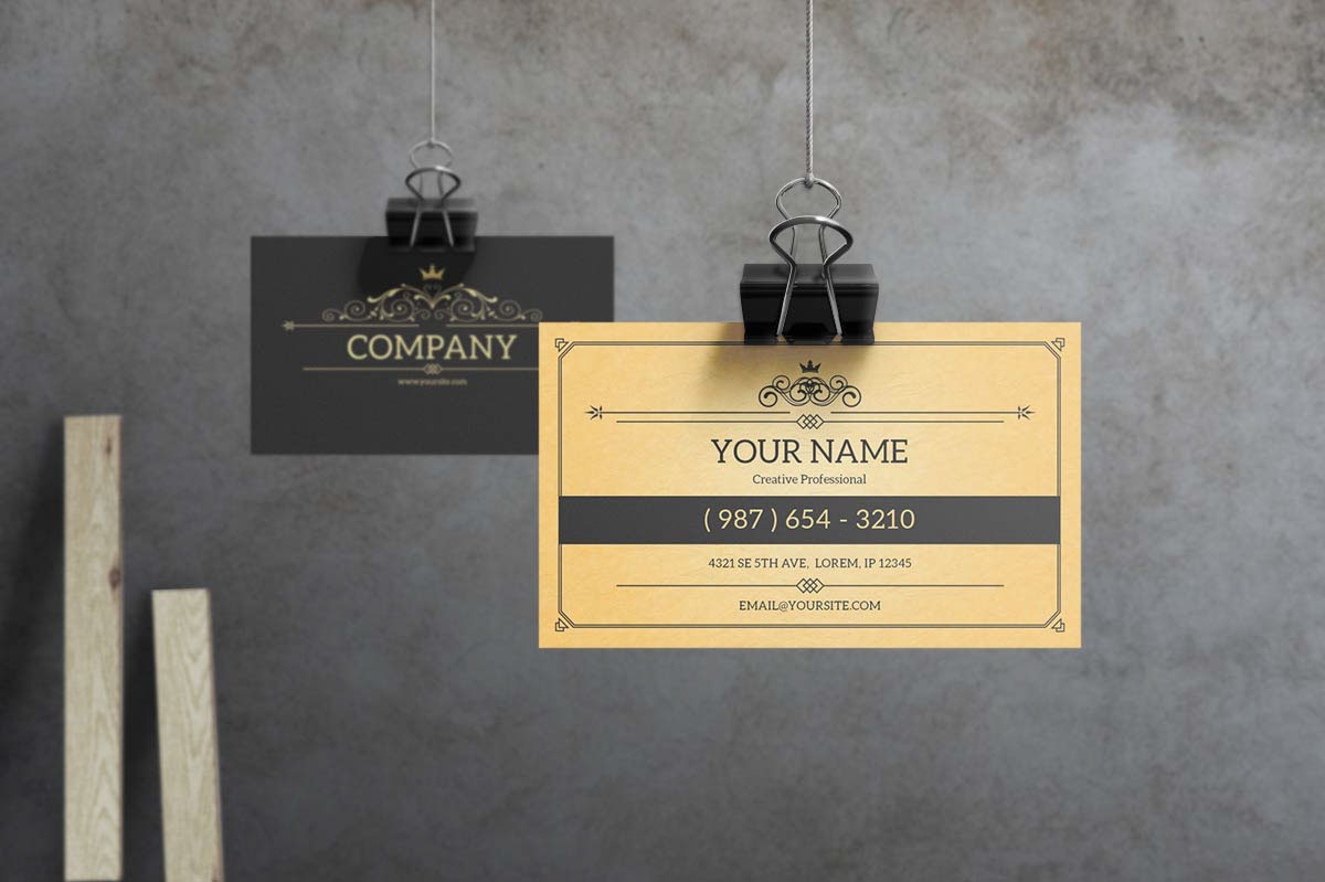 York Vintage Business Card Template On Behance