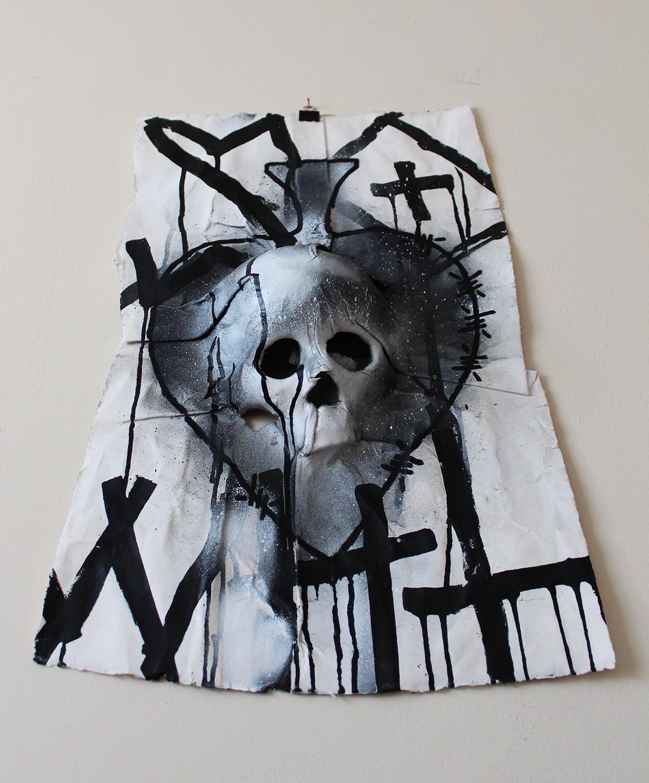skull,skull paper,3d skull,paper sculpture