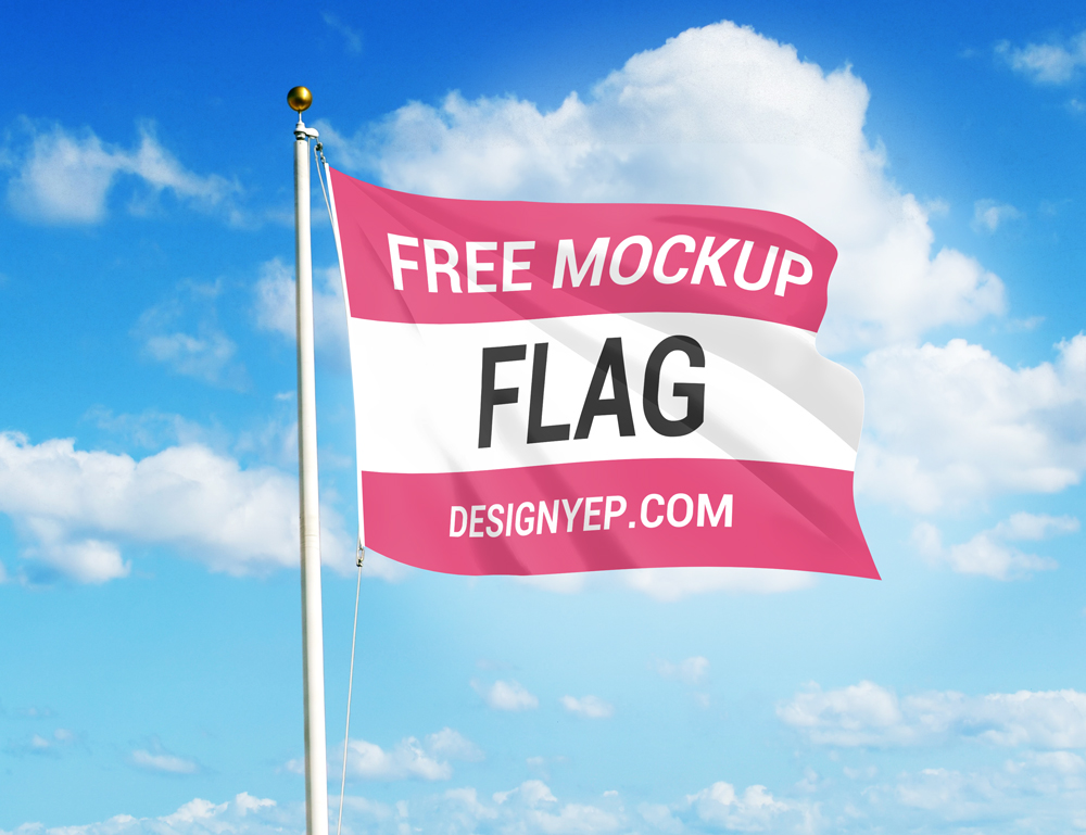 free flag mockup psd on behance