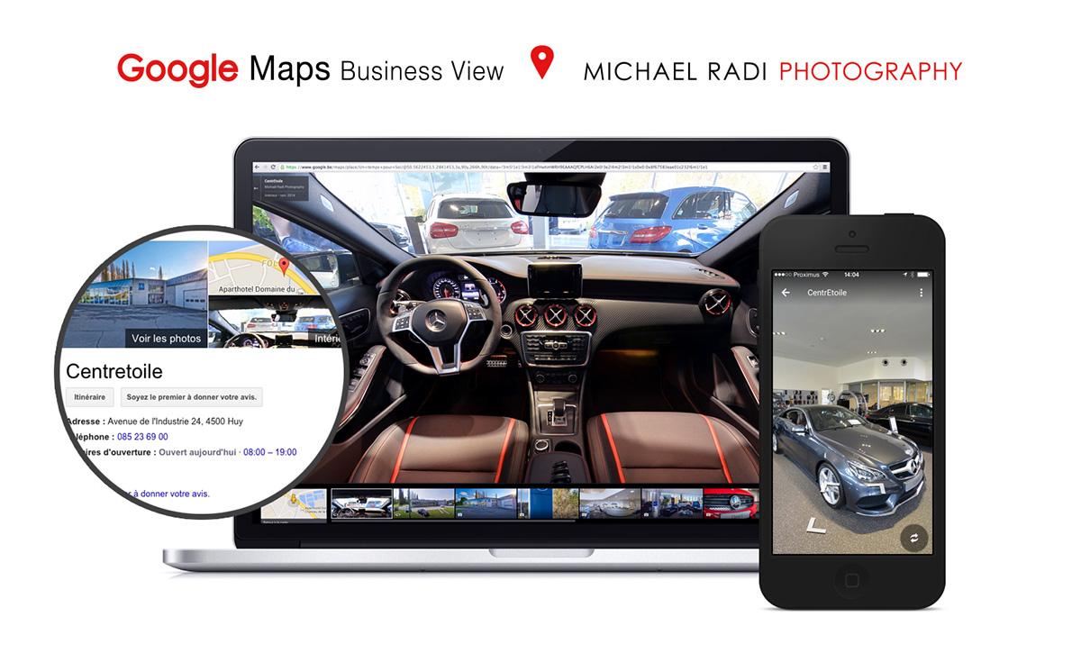 mercedes Centretoile belgium google maps business view Street Cars