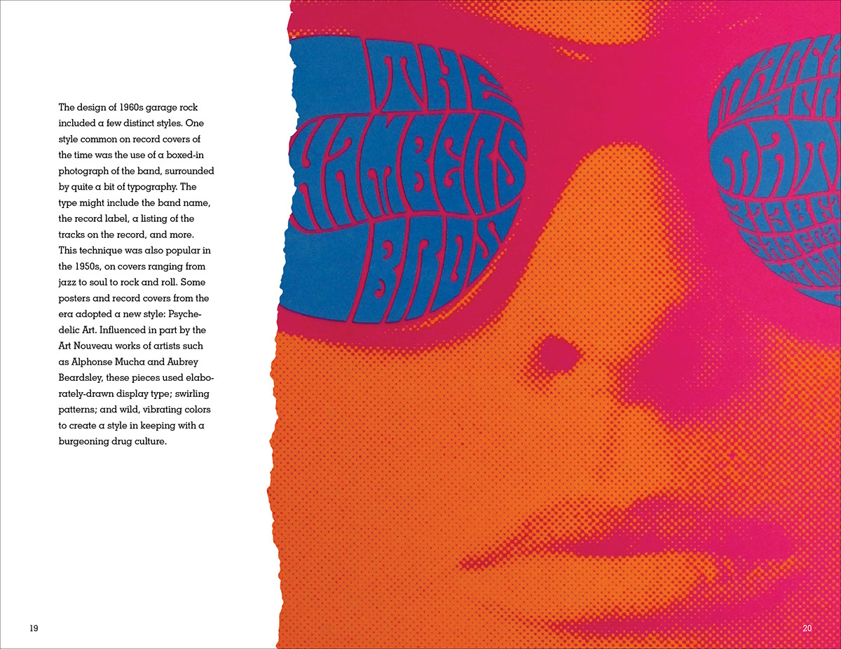 garage rock design of the 90s publication on behance designers bonded over hot rod and monster b movies fuzz guitars vintage girly mags and surf culture it was a style built around primal amateurism