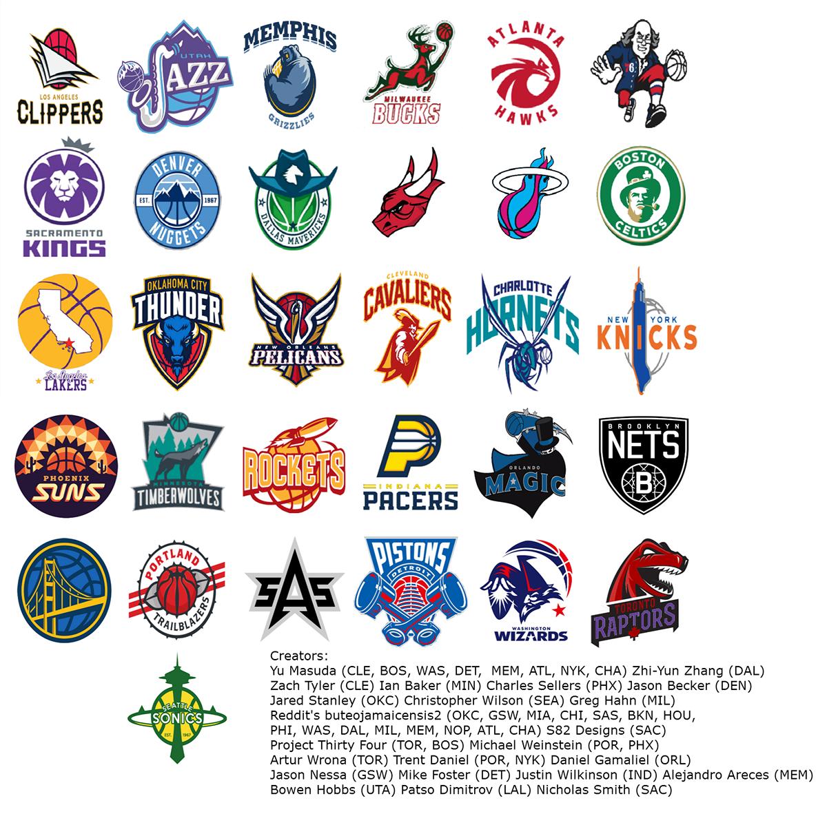 Nba Teams: Every NBA Team Redesigned On Behance