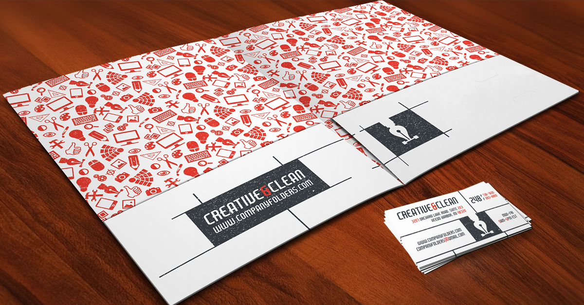 Free Template] Creative Pocket Folder & Business Card on Behance