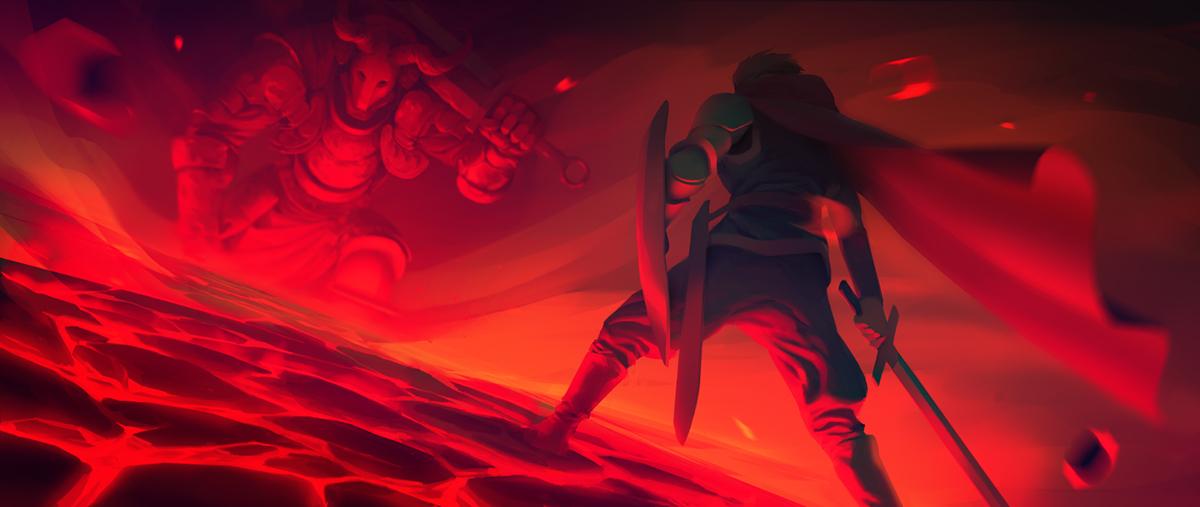 fantasy Hero boss knight Sword
