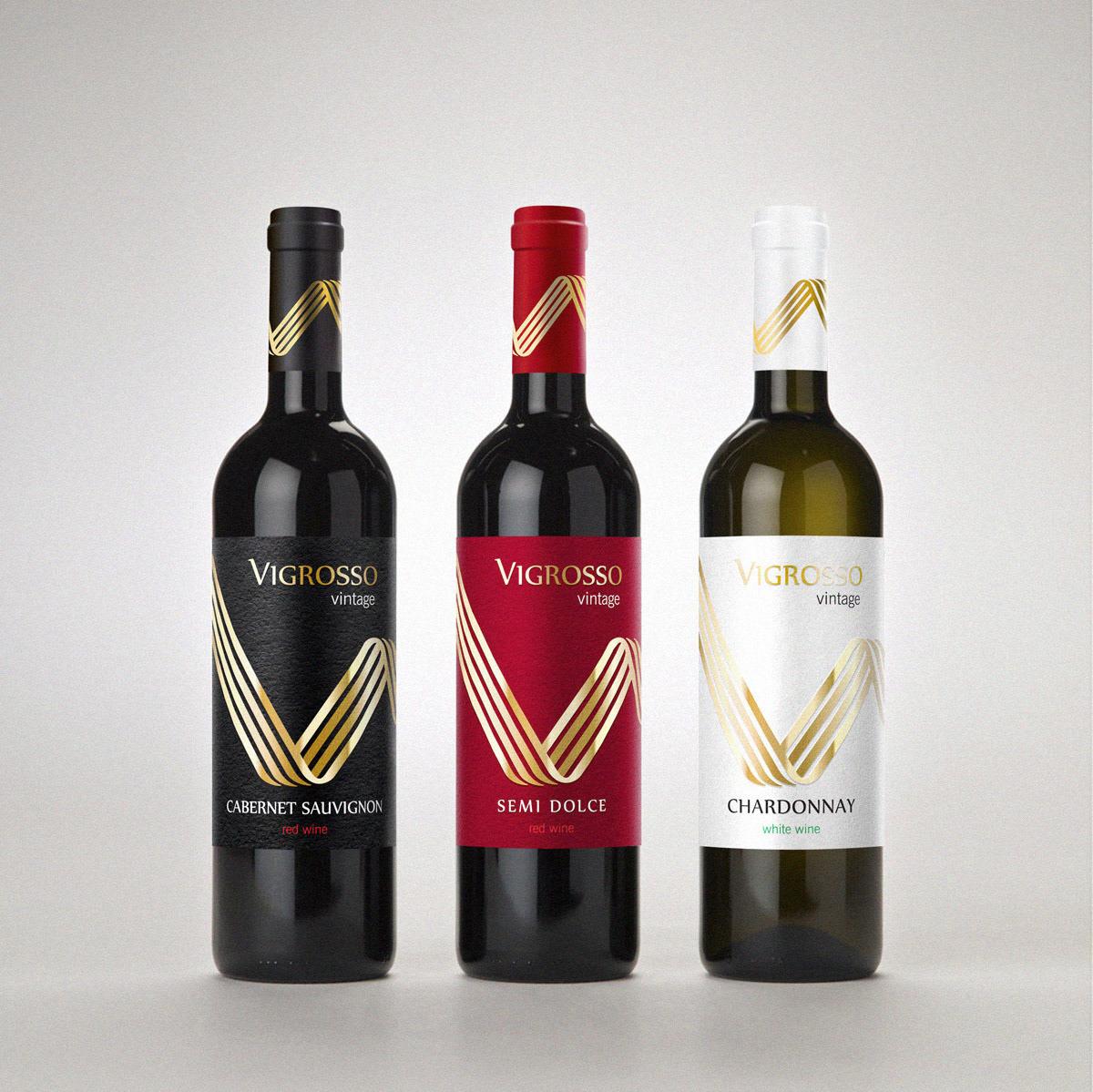Design wine label Packaging