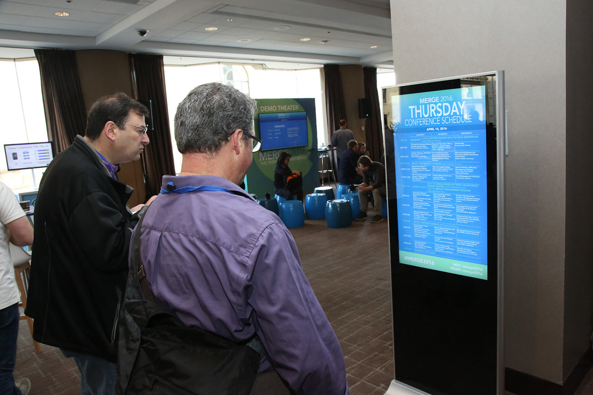 user conference Event Powerpoint Kiosk lcd Mobile app