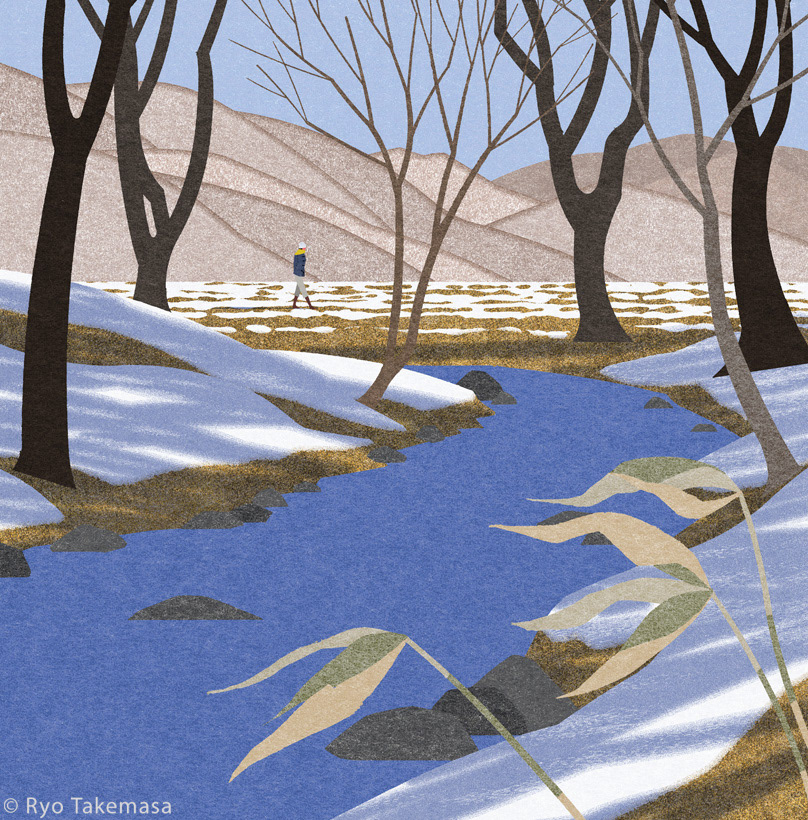brook Landscape Nature snow spring thaw winter