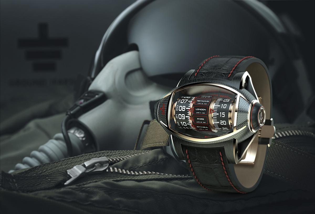 Concept Watch design watch GMT Germain Baillot