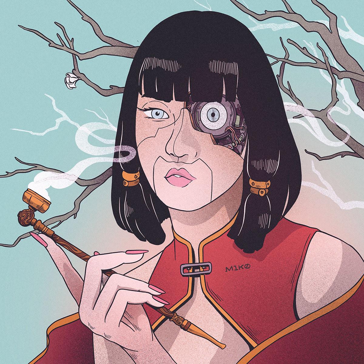 animation  artwork challenge Character Digital Art  Drawing  dtiys girl instagram portrait