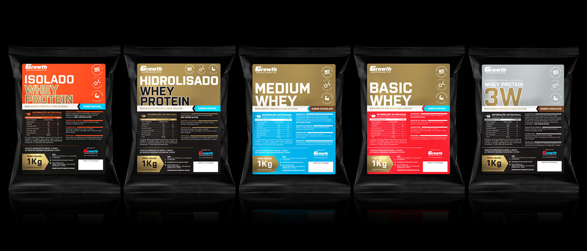 5d9bc36d5 Embalagens Growth Supplements on Behance